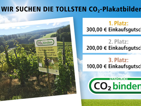 "Fotowettbewerb 📸 ""Unsere CO2-Plakate toll 👏🏻 in Szene gesetzt"""