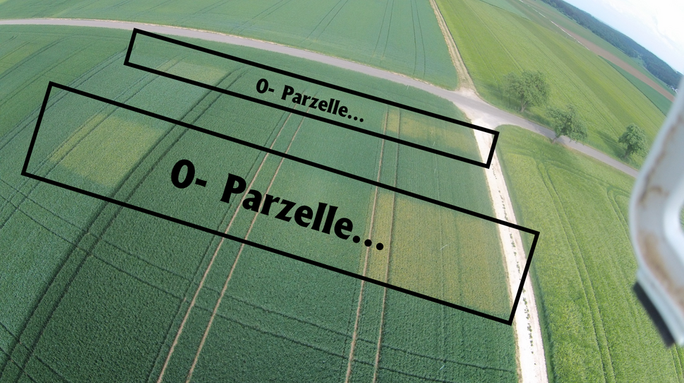 0-Parzelle aus der Luft