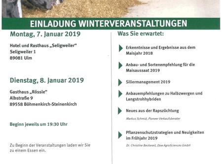 Pioneer - Winterveranstaltungen 2019