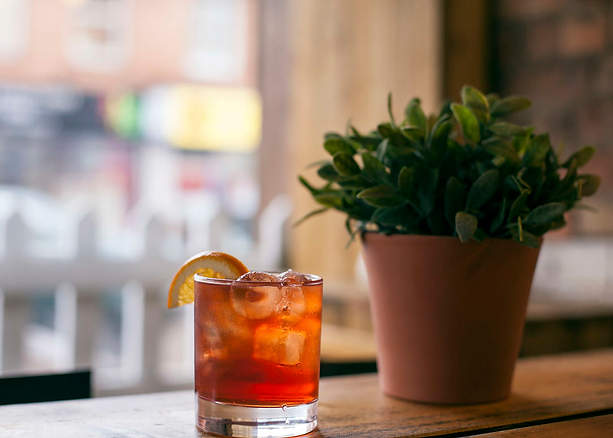 Negroni at the Bar Window