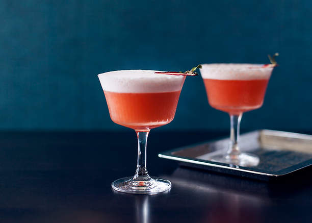 French Martini cocktails