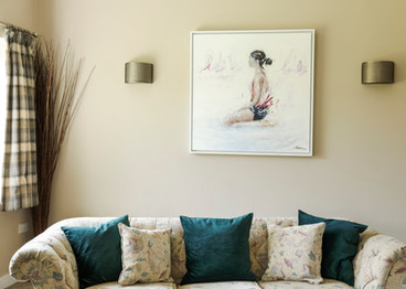 Living room with gorgeous painting