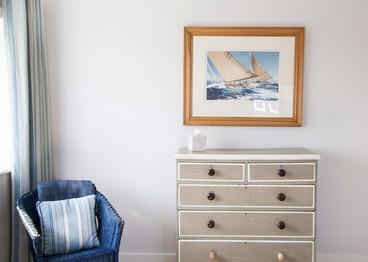 Bedroom chair window scene