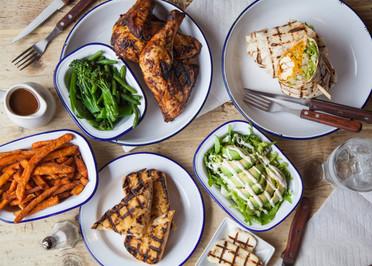 Delicious Chicken Lunch spread