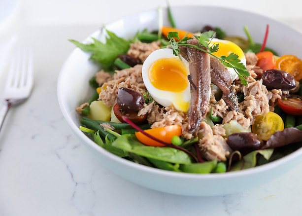 Breakfast nicoise Salad