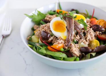 Breakfast nicoise Salad