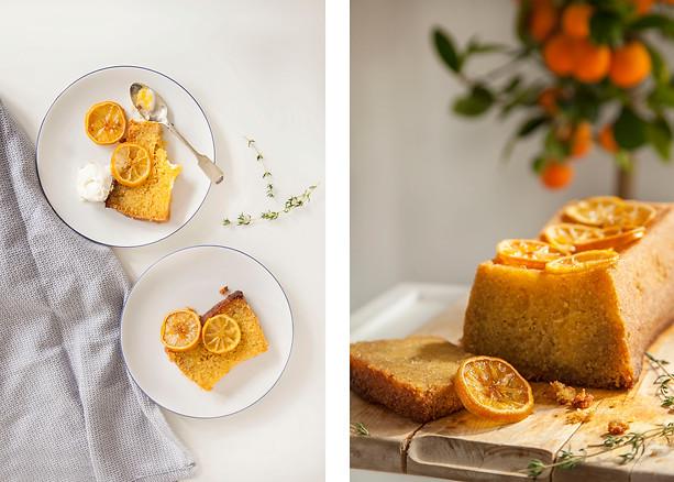 Polenta Orange Loaf Cake