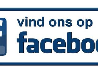Onze pagina op Facebook!