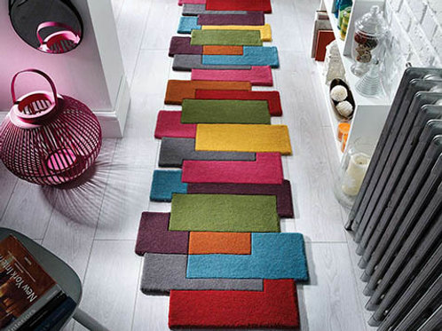 Abstract Rug Multi Runner