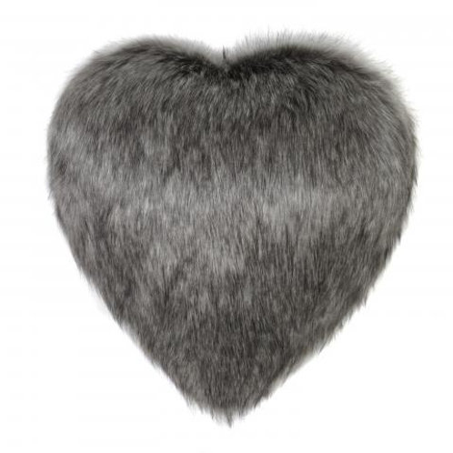 Lady Grey Heart Cushion