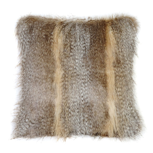 Siberian Wolf Faux Fur Cushion