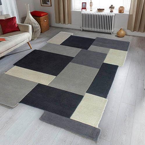 Abstract Rug Grey