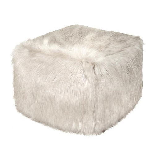 Oyster Faux Fur Cube