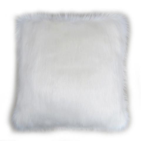 Snow White Fur Cushion