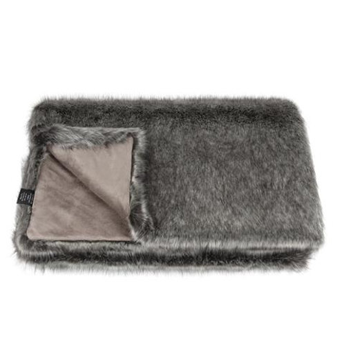 Lady Grey Faux Fur Throw