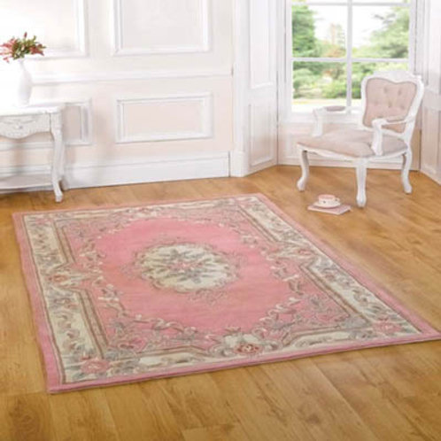 Pink Aubusson Rug
