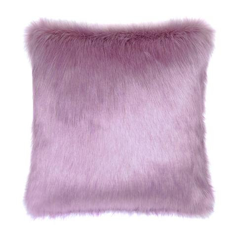 Lilac Fur Cushion