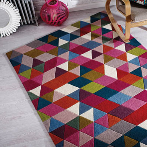 Pink and Multi Prism Rug