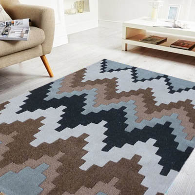 Matrix Block Modern Rug Chocolate
