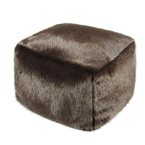 Treacle Faux Fur Cube