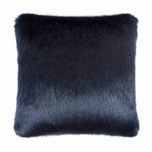 Midnight Faux Fur Cushion