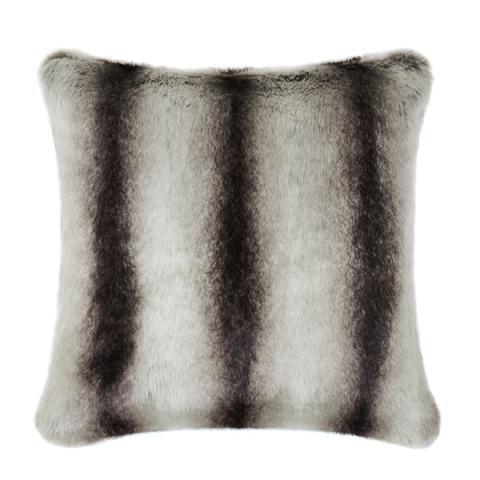 Grey Chinchilla Faux Fur Cushion