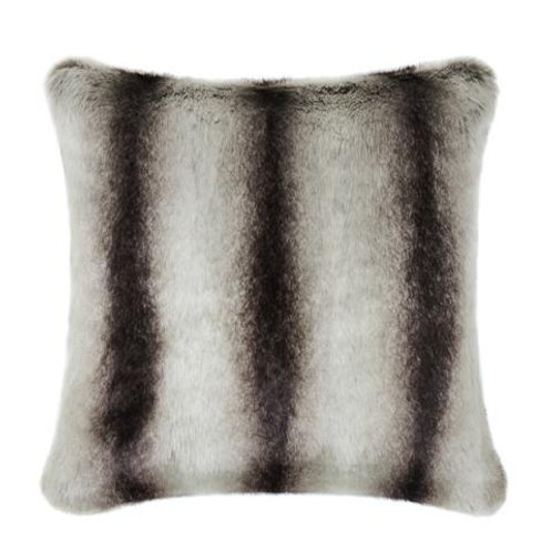 Grey Chinchilla Faux Fur Cushion