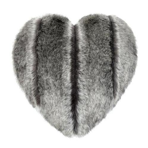 Aspen Faux Fur Heart Cushion