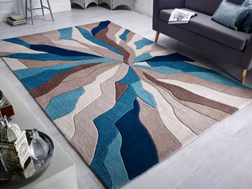 Splinter Rug Teal