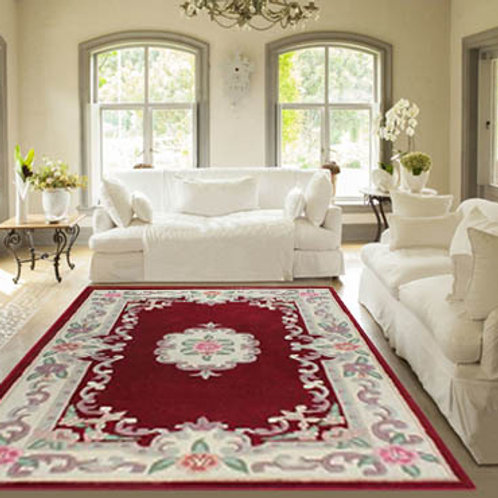 Red Aubusson Rug