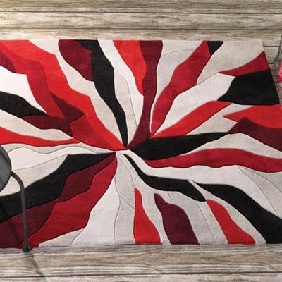 Splinter Rug Red