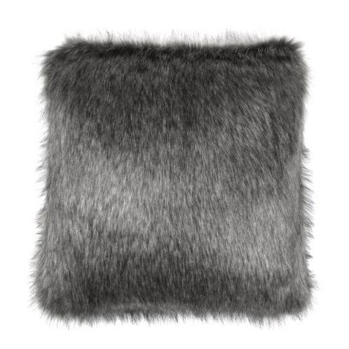 Lady Grey Fur Cushion