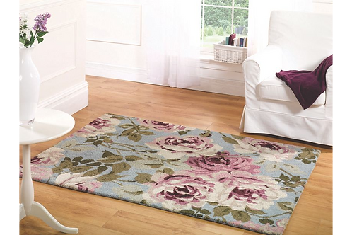 Light Blue Grace Rug
