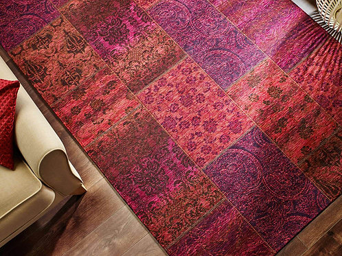 Chenille Pattern Rug Pink