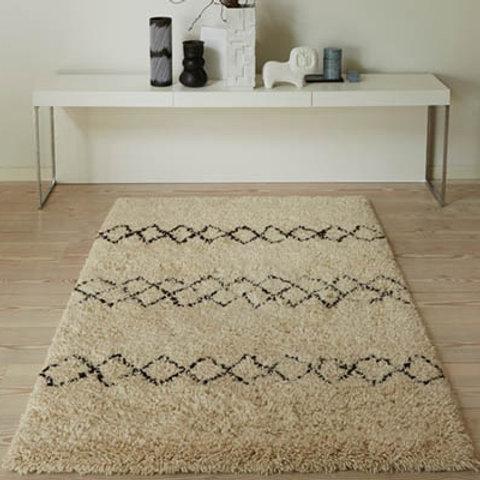Ivory Benni 100% Wool Luxury Rug