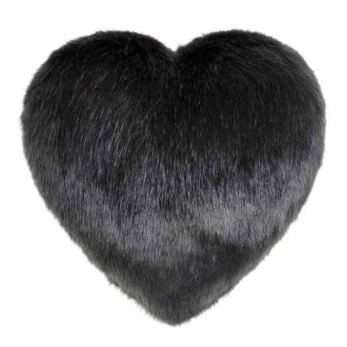 Charcoal Heart Cushion