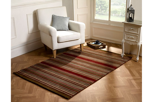 Brown and Red Corn Stripe Rug