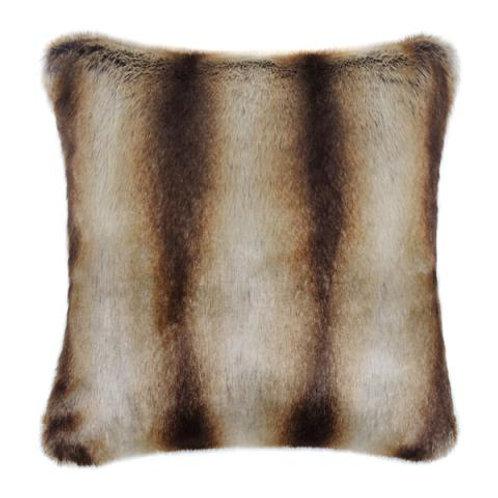 Brown Chinchilla Faux Fur Cushion