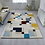 Thumbnail: Blue and Ochre Abstract Rug
