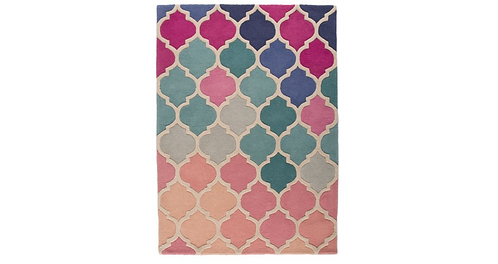 Pink and Blue Rosella Rug