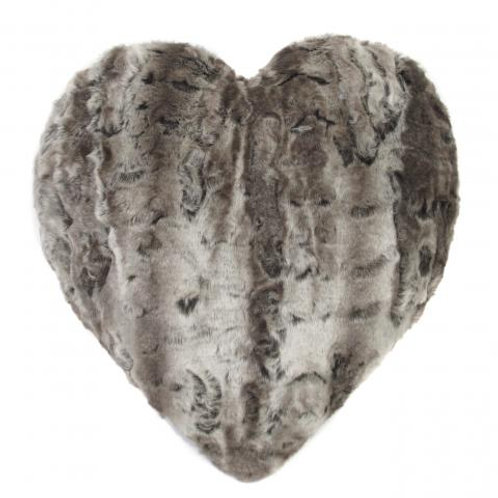 Mink Crush Heart Cushion