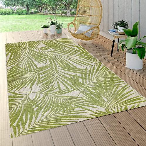 Patio Rug Green Palm