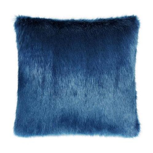 Petrol Faux Fur Cushion