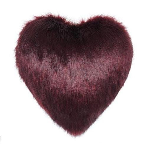 Burgundy Heart Cushion