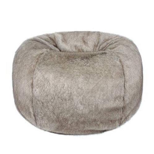 Truffle Faux Fur Beanbag