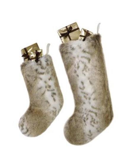 Lynx Faux Fur Stocking