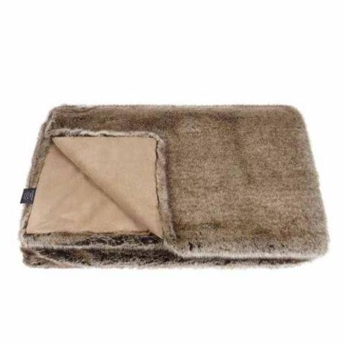 Truffle Faux Fur Throw