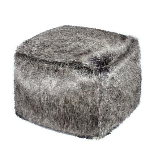Lady Grey Faux Fur Cube