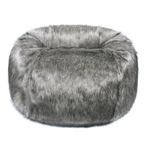 Earl Grey Faux Fur Bean Bag