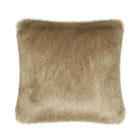 Camel Faux Fur Cushion